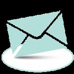Enveloppe courrier sur socle